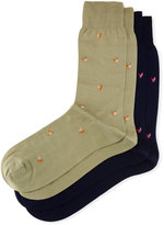 Punto Two-Pair Rooster-Print Socks
