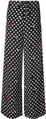 McQ Swallow Polka Dot Trousers