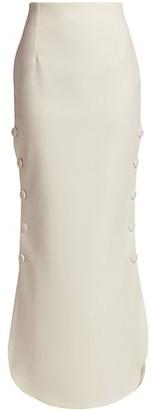 A.W.A.K.E. Mode Side Button Crepe Maxi Skirt