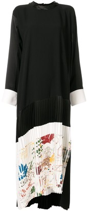 Tory Burch Colour Block Pleated Dress