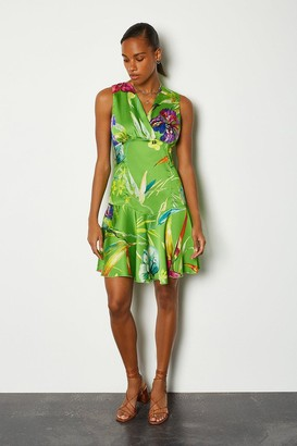 Karen Millen Floral Printed Flippy Dress