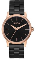 Nixon Women's 'Small Kensington' Quartz Metal and Stainless Steel Automatic Watch, Color:Black (Model: A3612481-00)