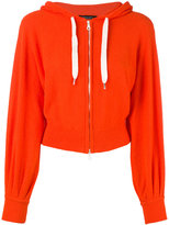Roberto Collina cropped zip front hoodie