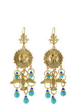 Jose & Maria Barrera Sun & Dove Charm Chandelier Earrings