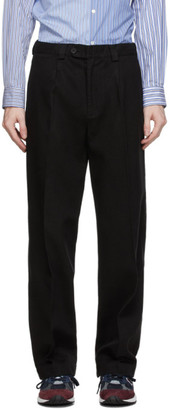 mfpen Black Twill Trousers