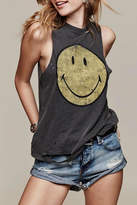 Daydreamer Destroyed Smiley Tank Top