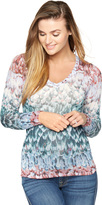A Pea in the Pod Bcbg Max Azria Feather Printed Maternity Shirt