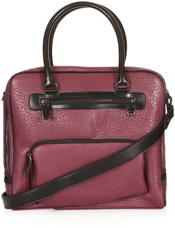 Topshop Merino Zip Pocket Luggage Bag