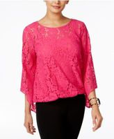 Alfani Lace Blouson Top, Only at Macy's