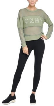 DKNY Sport Mesh-Blocked Long-Sleeve Top