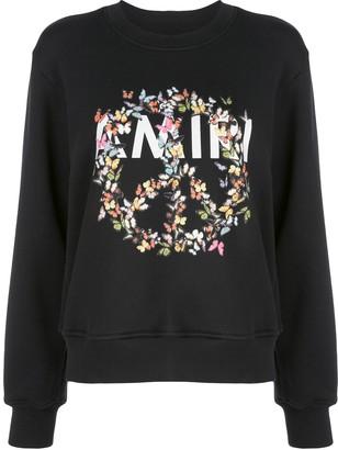 Amiri Floral Peace Print Sweatshirt