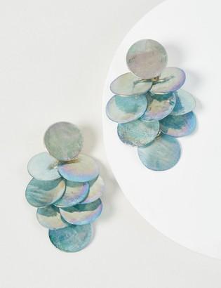 Lane Bryant Blue Disc Drop Earrings