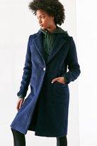 Silence & Noise Silence + Noise Fuzzy Brushed Longline Coat