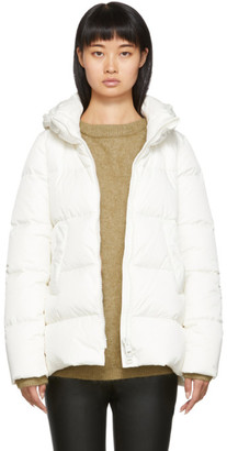 Herno White Down Heavy Nylon Hilo Jacket