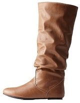 Charlotte Russe Slouchy Flat Knee-High Boots