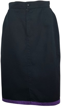 Gianni Versace Black Linen Skirt for Women Vintage