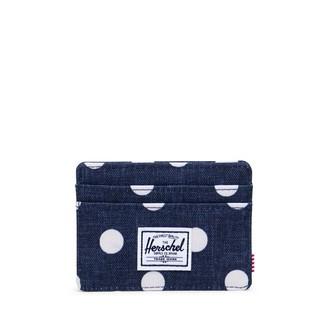 Herschel Charlie Wallet Polka Dot Crosshatch Peacoat