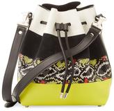 Proenza Schouler Exotic Stripe Medium Bucket Bag
