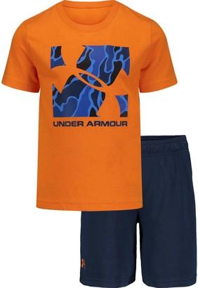 Under Armour Boys 4-7 Diverge Logo Box Tee & Short Set