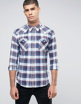 Levis Barstow Western Check Shirt Suona Dress Blues