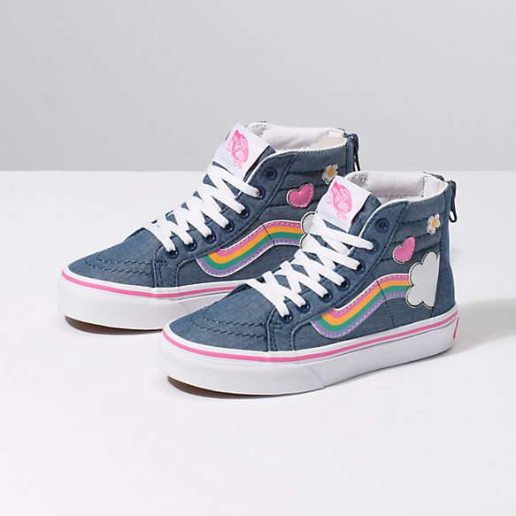 c8dac404db Kids Rainbow Sidestripe Sk8-Hi Zip