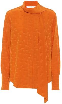 Chloé Silk jacquard blouse