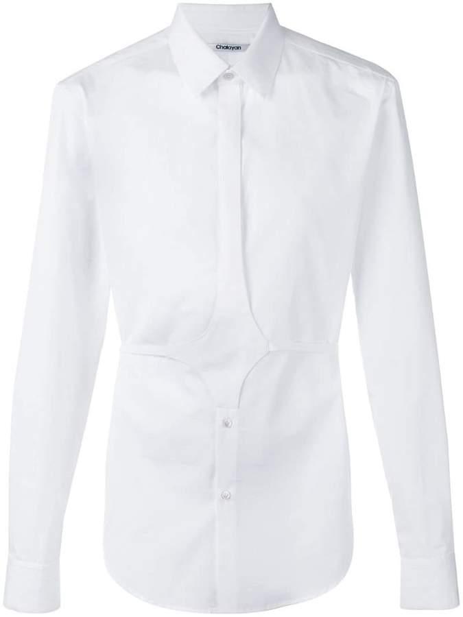 Chalayan button belt shirt