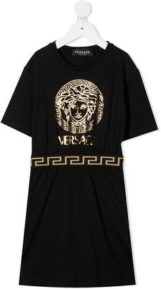 Versace Medusa print cotton dress