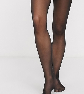 Mama Licious Mamalicious Maternity 20 denier 2 pack tights in black and nude