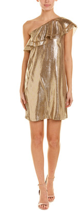 Rachel Zoe Off-The-Shoulder Silk-Blend Cocktail Dress