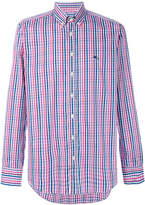 Etro stripe check button down shirt