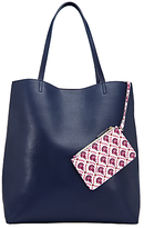 John Lewis Calico Printed Tote Bag, Navy