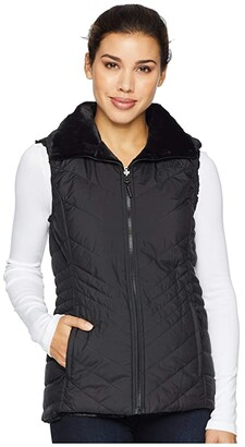 The North Face Mossbud Insulated Reversible Vest (TNF Black) Women's Vest