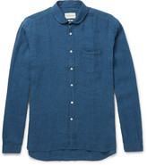 Oliver Spencer - Penny-collar Checked Linen Shirt