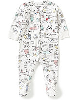 Joules Baby Boys Newborn-12 Months Dog-Print Footed Coverall
