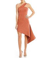 Keepsake Overpowered One Shoulder Asymmetrical Mini Dress