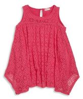 Design History Girl's Crochet Lace Top
