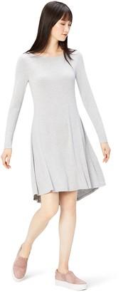Daily Ritual Amazon Brand Women's Jersey Long-Sleeve Bateau-Neck Dress