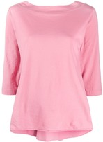 Roberto Collina cropped sleeve boxy fit top