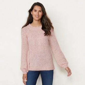 Lauren Conrad Petite Bow-Back Crewneck Sweater