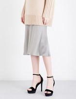 Protagonist Flared mid-rise crepe skirt