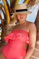 aerie Strapless Ruffle One Piece Swimsuit