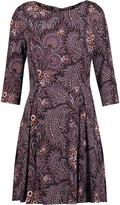 Suno Pleated printed stretch-silk mini dress