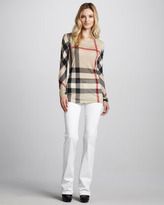 Burberry Power-Stretch Boot-Cut Jeans