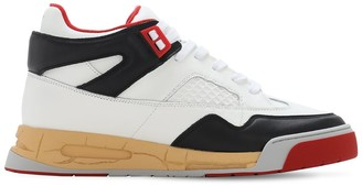 Maison Margiela 35mm Ddstck Leather Mid-High Sneakers