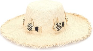 Mercedes Salazar Woven Fish Straw Hat