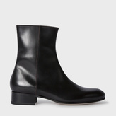 Paul Smith Women's Black Calf Leather 'Bardo' Chelsea Boots