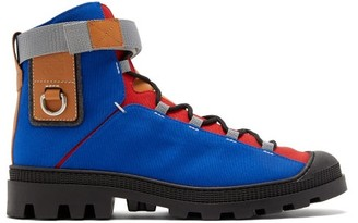 eye/LOEWE/nature Logo-patch Canvas Hiking Boots - Blue
