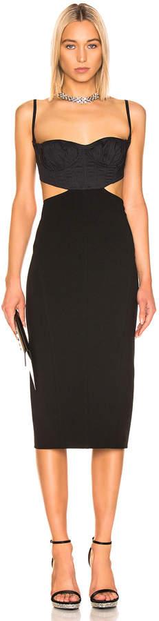 Thierry Mugler Cut Out Dress in Black | FWRD