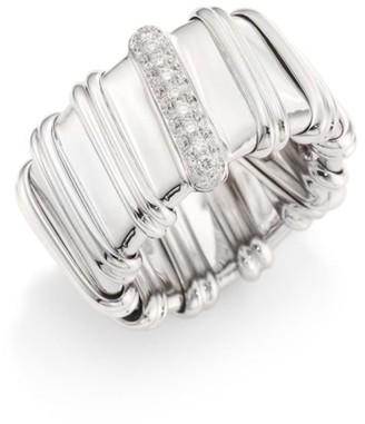 Roberto Coin Nabucco Diamond & 18K White Gold Ring